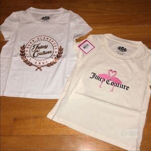 NWT Juicy couture girls 2pk. Tees SZ. 2/3T